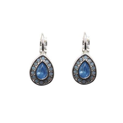 Classic Tear Drop Crystal Earring Summer Blue