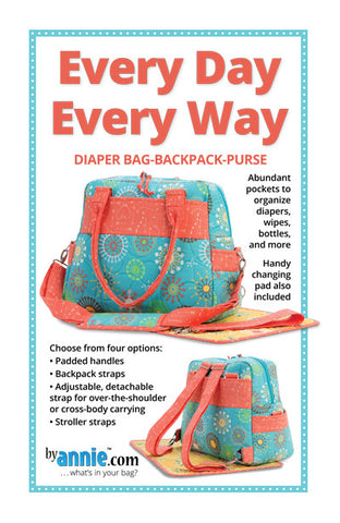 Every Day Every Way Diaper Bag - Backpack - Purse