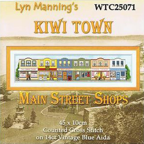 Kiwi Town Main Street Cross Stitch Kit