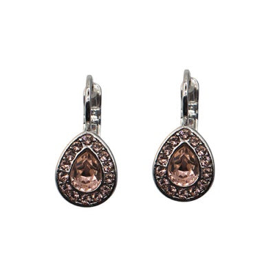 Classic Tear Drop Crystal Earring Vintage Rose