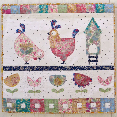 Henhouse Mini Quilt - Quick Cut Kit