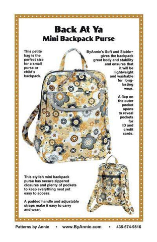 Back At Ya - Mini Backpack Purse