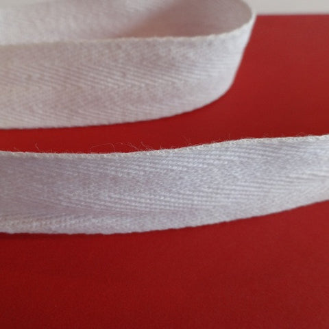 Twill Tape White 25 mm (1 inch)