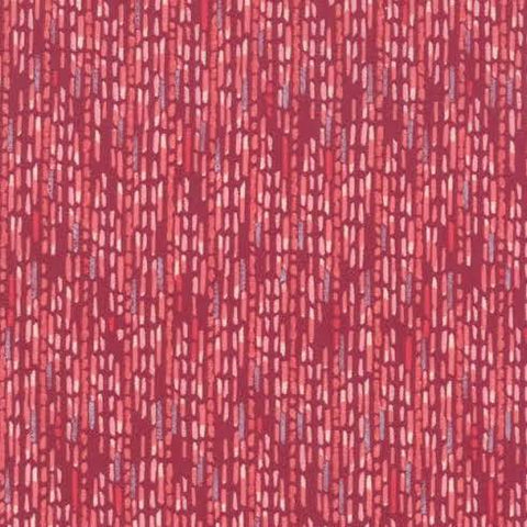 Painted Meadow Watercolour Stripe in Burgundy