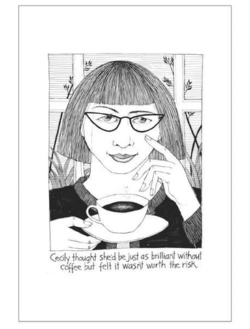 Coffee Brilliance Teatowel