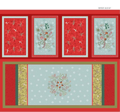 New Forest Winter Table Mats and Table Runner Panel