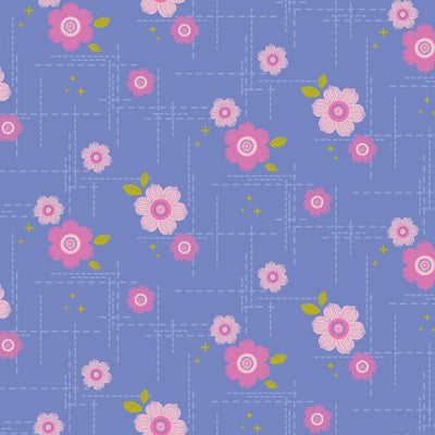 Spectrum Retro Floral in Periwinkle