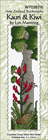 Bookmark Kauri and Kiwi Cross Stitch