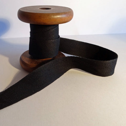 Twill Tape Black 25mm