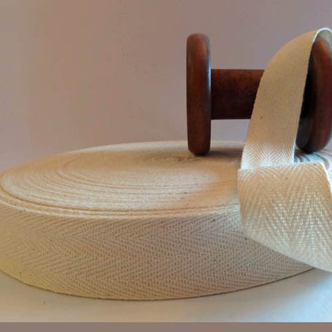 Twill Tape Natural 25mm