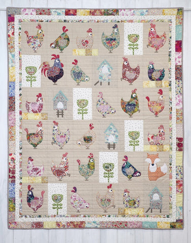 Henhouse Applique Quilt Pattern