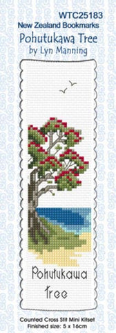 Bookmark Pohutukawa Tree Cross Stitch