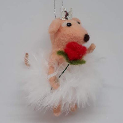 Rose Mouse Ornament