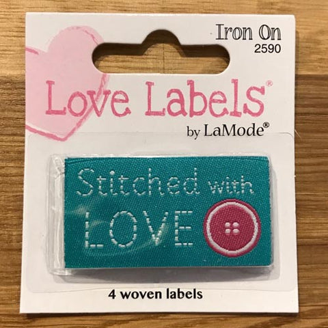 Stitched With Love - Iron on Love Labels