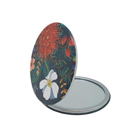 Clematis and Pohutukawa Cosmetic Mirror