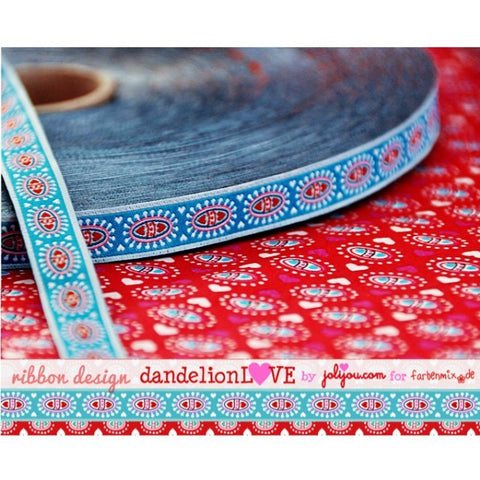 Blue Dandelion Love Ribbon