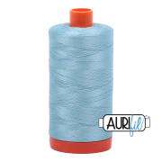 Aurifil Cotton Mako 2805 Light Grey Turquoise 50wt