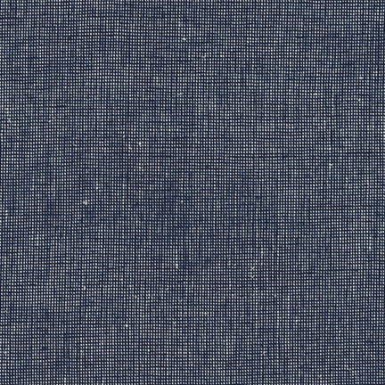 Essex Yarn Dyed Homespun Linen in Navy