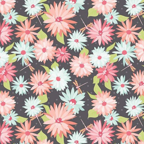 Paper Daisies Main in Grey