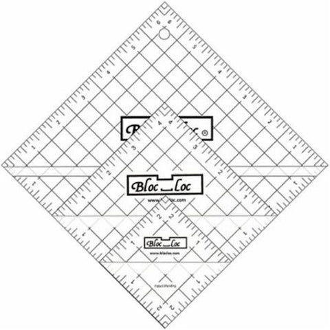 Bloc Loc Half Square Triangle 3 piece set