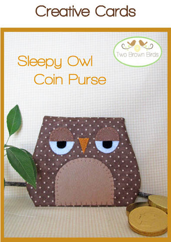 Sleepy Owl Coin Purse