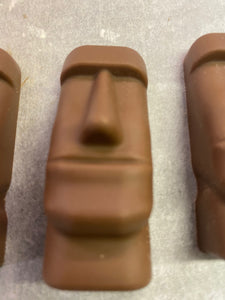Peanut Butter Filled Milk Chocolate Moai