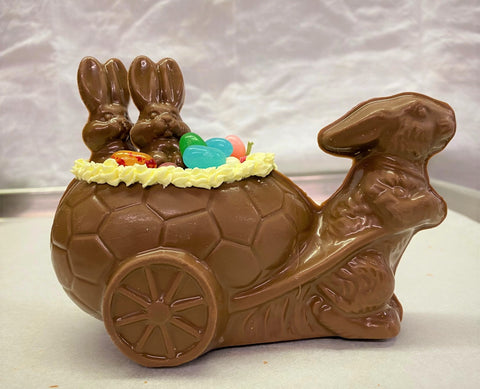 Bunny Cart with Baby Bunnies Centerpiece and Gift
