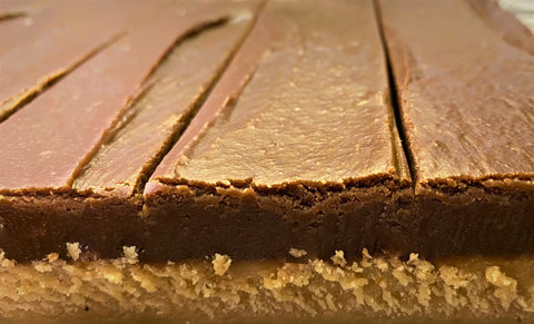 Layered Peanut Butter Chocolate Fudge