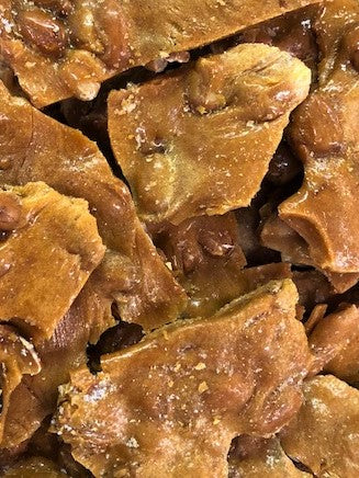 Old Fashioned Peanut Brittle. One Pound Gift Box $10.95
