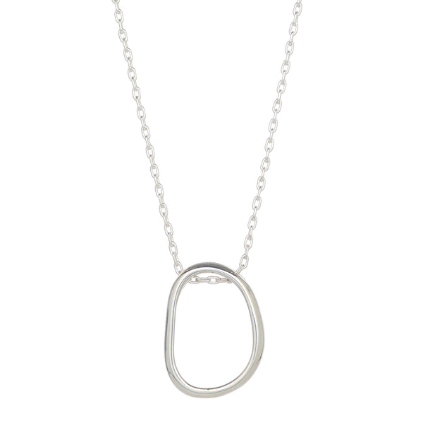 Thick Bent Ring Necklace