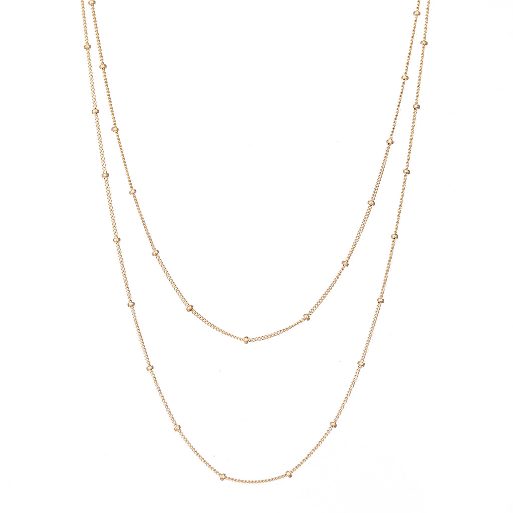Double Layered Satelite Necklace