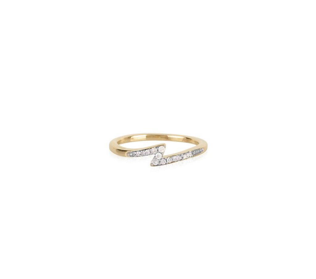 Diamond Lighting Bolt Ring