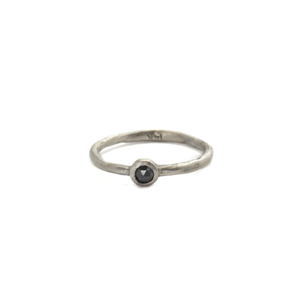 Black Rosecut Diamond Stacking Band