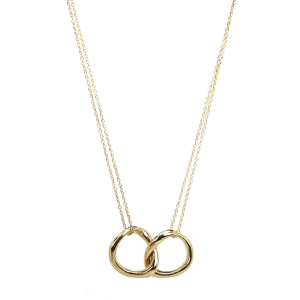 14K Double Baby Bent Loop Necklace