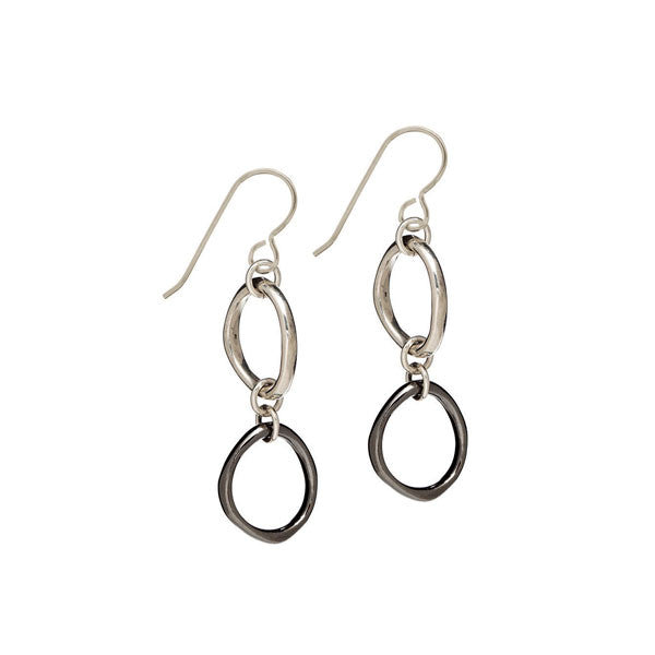 Sculpted Oval Drop Earrings
