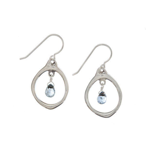 Oval Aquamarine Earrings