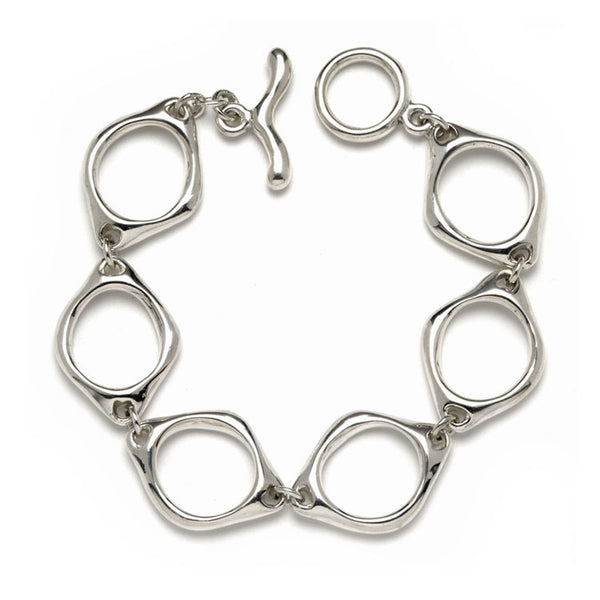 Small Sculpted Oval Link Bracelet