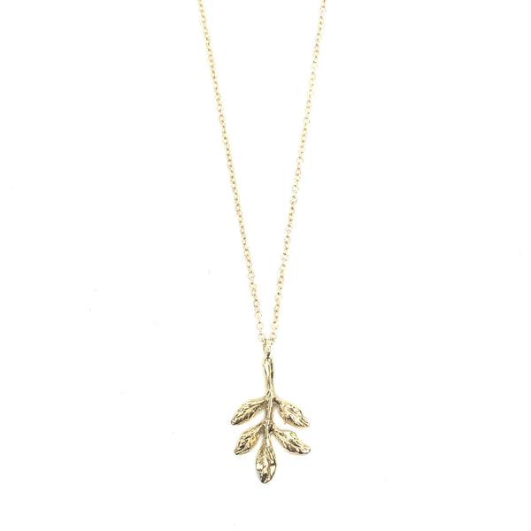 14k Golden Leaves Necklace
