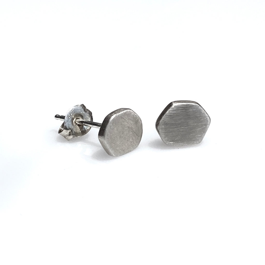 Hexagon Disc Studs