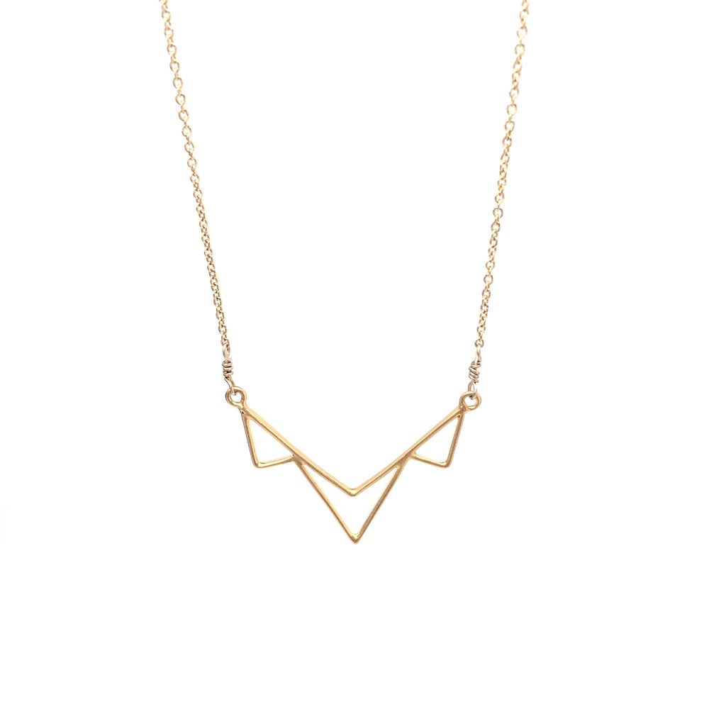 Multiple Triangle Pendant Necklace