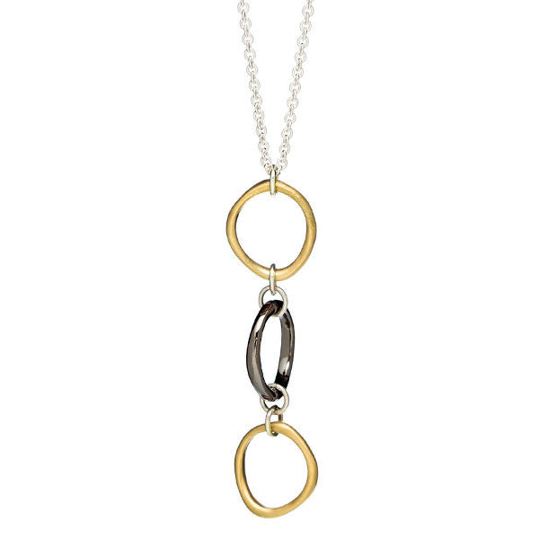 Triple Sculpted Oval Necklace