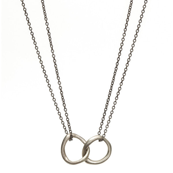 Double Baby Bent Loop Necklace