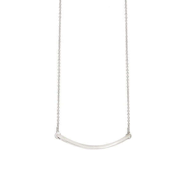 Thinnest Curved Bar Necklace
