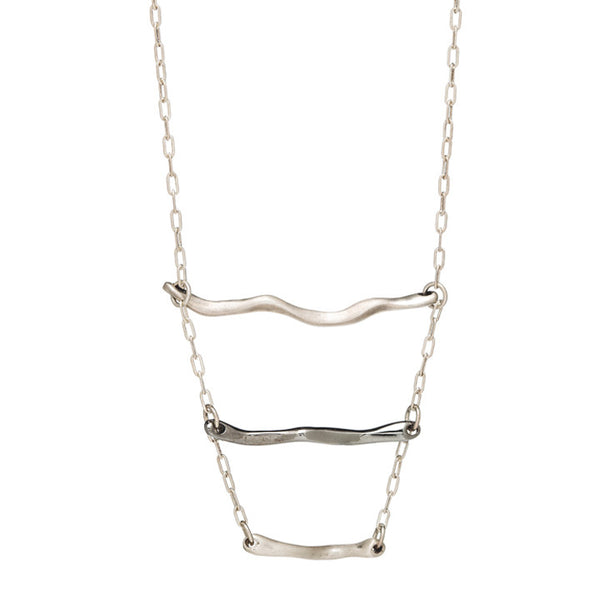 Wavy Ladder Necklace