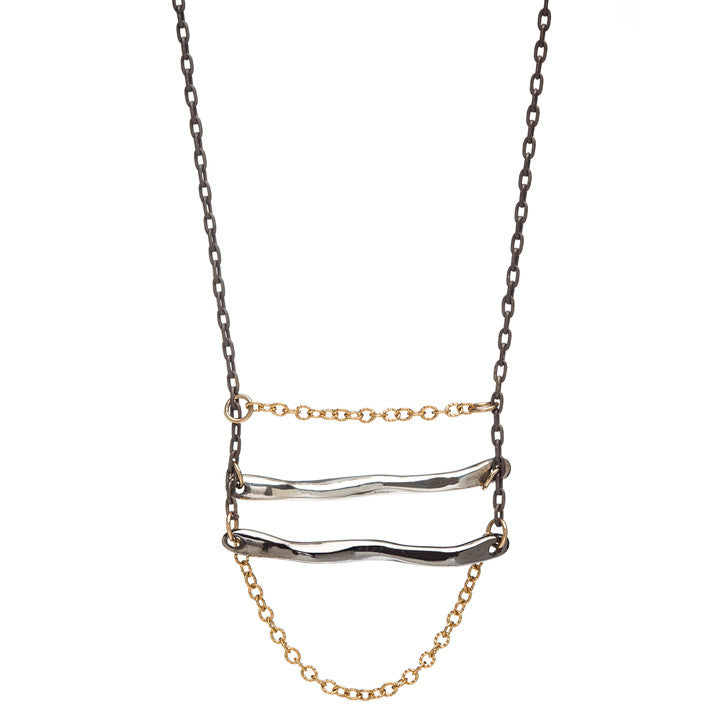 Medium Ladder and Chain Necklace