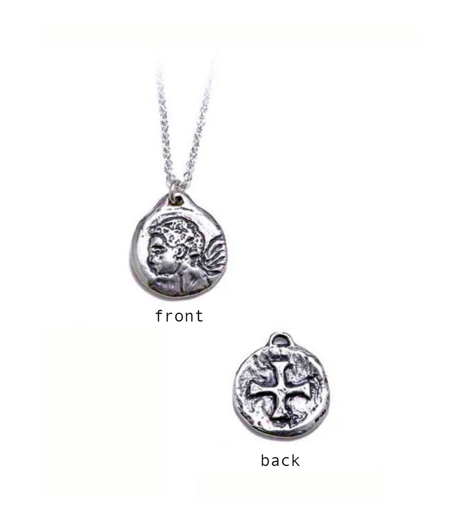 Protection Charm Necklace With Cross