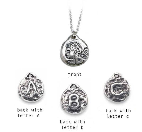 Initial Protection Charm Necklace