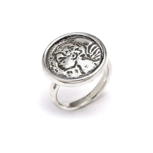 Protection Angel Coin Ring