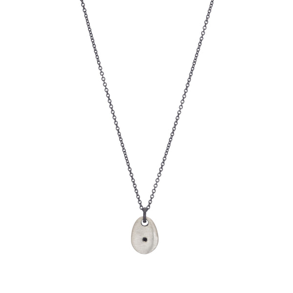 Small Drop Necklace With Diamond