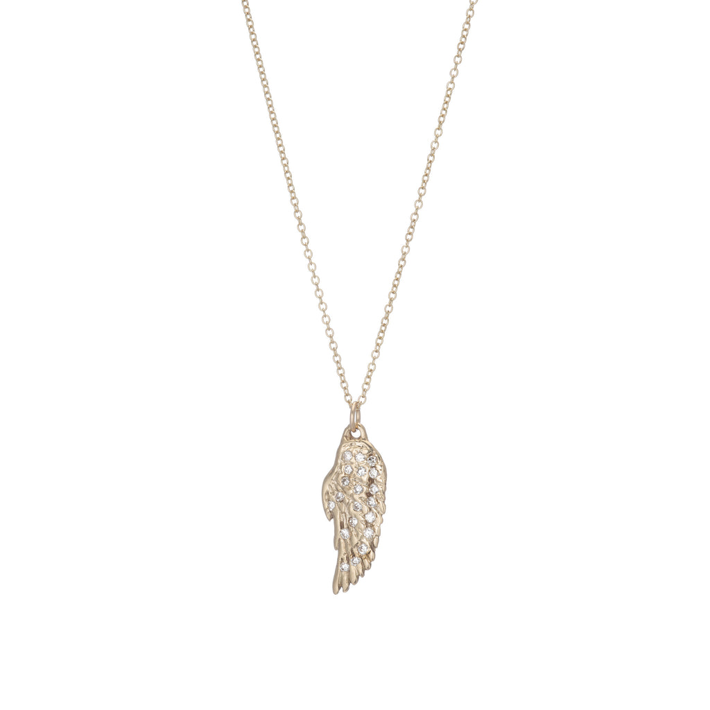 Diamond Wing Necklace